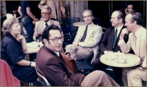 A personal photograph of the late János Sebestyén, graciously provided by Robert Tifft. Members of the jury of the Concours International de Clavecin de Paris, 1976: FLTR: Huguette Dreyfus, Robert Veyron-Lacroix, Gustav Leonhardt, Ruggero Gerlin, Kenneth Gilbert, and in front, János Sebestyén.