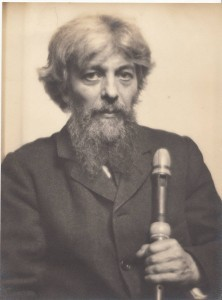 Arnold Dolmetsch and his Bressan recorder. Copyright © 2016 The Dolmetsch Trust
