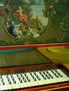 Detail of the 1743 Hass clavichord. By kind permission of Tricia Neal. Copyright © 2016