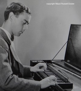 Raymond playing a Dolmetsch clavichord