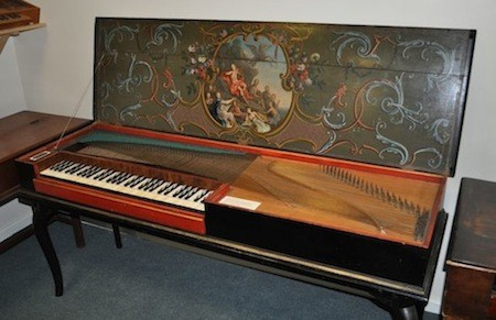The 1743 Hass clavichord, now in the Bate Collection.